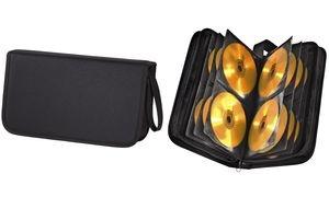 hama CD-/DVD-Tasche, Nylon, für 64 CD's/DVD's, schwarz