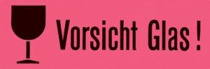 """HERMA Hinweisetiketten """"Vorsicht Glas"""", 39 x 118 mm"""