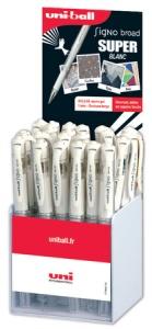 uni-ball Gel-Tintenroller SIGNO UM-153, weiß, 36er Display
