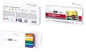 Tombow Marker ABT PRO, alkoholbasiert, 12er Set Basic Colors