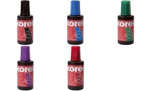 Kores Stempelfarbe, Inhalt: 28 ml, rot