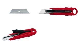 WEDO Safety-Cutter Standard, Klinge: 18 mm, rot/schwarz