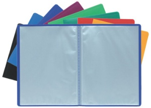 EXACOMPTA Sichtbuch, DIN A4, PP, 20 Hüllen, farbig sortiert