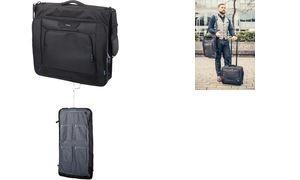LIGHTPAK Kleidersack, aus Polyester, schwarz