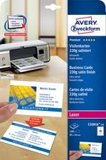 AVERY Zweckform Quick & Clean Visitenkarten, satiniert