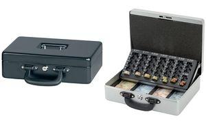 MAUL Geldkassette mit Zähleinsatz, silber