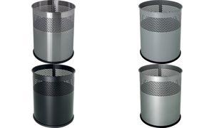 helit Stahl-Papierkorb, mit Lochdekor, 15 Liter, silber