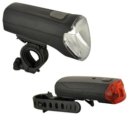 FISCHER Fahrrad-LED-Beleuchtungs-Set 60/30/15 Lux