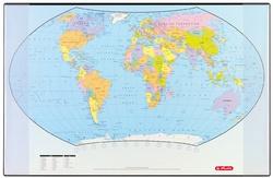 herlitz Schreibunterlage mit politischer Weltkarte