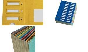 emey Ordnungsmappe Junior, 24 Fächer, mit Zahlenskala, blau