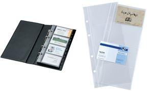 sigel Visitenkarten-Hüllen, A4, zweireihig, für 200 Karten