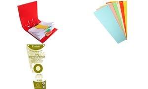 EXACOMPTA Trennstreifen, trapezförmig, Karton, chamois