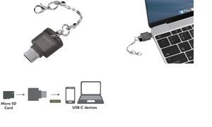 LogiLink USB 2.0 Card Reader als Schlüsselanhänger, schwarz
