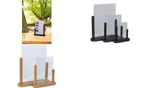 Securit Tischaufsteller TABLE, Acryl, DIN A4, schwarz
