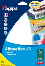 agipa Universal-Etiketten, 19 x 25 mm, weiß
