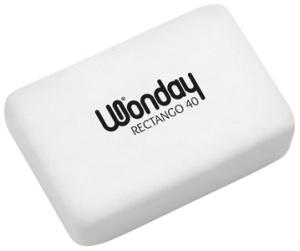 Wonday Kunststoff-Radierer RECTANGO 40, weiß