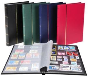 EXACOMPTA Briefmarkenalbum, 225 x 305 mm, schwarz, 64 Seiten