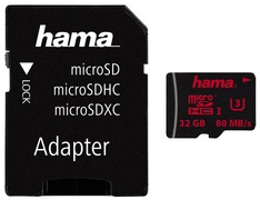 hama Speicherkarte Micro SecureDigital HC, Klasse 3, 128 GB