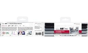 Tombow Marker ABT PRO, 5er Set Cold Grey Colors