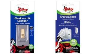 Poliboy Glaskeramik Schaber für Glas- und Kochfeld, Stahl