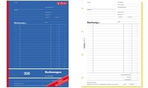 "herlitz Formularbuch ""Rechnung 303"", DIN A6, 2 x 40 Blatt"