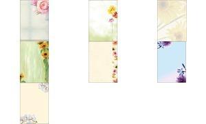 "sigel Design-Papier, DIN A4, 90 g/qm, Motiv ""Flowerstyle"""