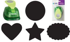 """HEYDA Motivstanzer XXL """"Oval geriffelt"""", Farbe: grün"""