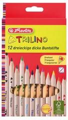herlitz Dreikant-Buntstifte Trilino, 12er Karton-Etui