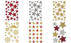 "HERMA Weihnachts-Sticker MAGIC ""Sterne rot"", glittery"