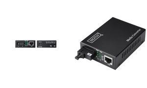 DIGITUS Gigabit Ethernet Medienkonverter, RJ45/SC