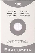 EXACOMPTA Karteikarten, 100 x 150 mm, blanko, weiß