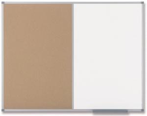nobo Kombitafel, Weißwand/Kork, Maße: (B)900 x (H)600 mm
