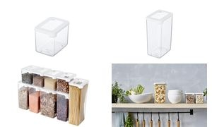 GastroMax Trockenvorratsdose, 2,25 Liter, transparent/weiß