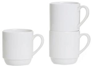 Ritzenhoff & Breker Kaffeebecher, stapelbar, weiß, 0,3 l