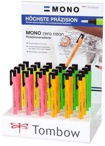 "Tombow Radierstift ""MONO zero"" Neon, 24er Display"