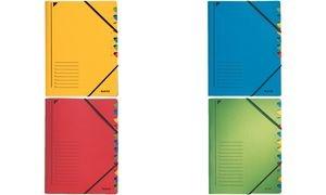 LEITZ Ordnungsmappe, DIN A4, Karton, 12 Fächer, gelb