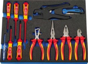HEYTEC Modul*** VDE-Werkzeug für Werkstattwagen, 12-teilig