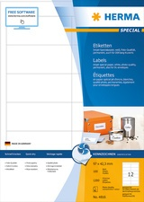 HERMA Inkjet-Etiketten SPECIAL, 66 x 33,8 mm, weiß