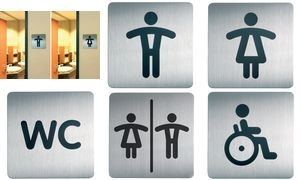"DURABLE Piktogramm PICTO ""WC Damen"", quadratisch"