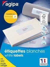 agipa Universal-Etiketten, 99,1 x 67,7 mm, weiß