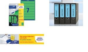 AVERY Zweckform Ordnerrücken-Etiketten, 38 x 192 mm, blau