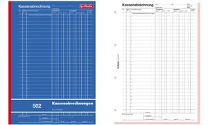 """herlitz Formularbuch """"Kassenabrechnung 502"""", DIN A4"""