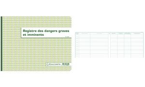"EXACOMPTA Piqûre ""Registre des dangers graves et imminents"""