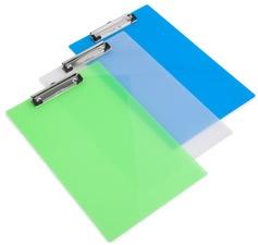 RAPESCO Klemmbrett, DIN A4, PP, transparent-farbig sortiert