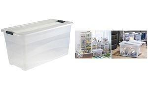 """keeeper Aufbewahrungsbox """"cornelia"""", 83 Liter, transparent"""