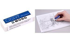 "Tombow Kunststoff-Radierer ""MONO light"", weiß"