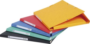 EXACOMPTA Sammelbox, aus Karton, 425 g/qm, rot