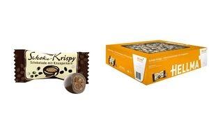 HELLMA Schoko-Krispy in Vollmilchschokolade, im Karton