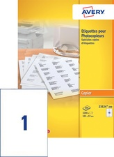 AVERY Etiquette pour photocopieur, 210 x 148 mm, blanc