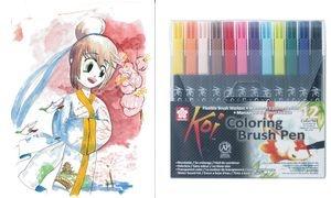 SAKURA Pinselstift Koi Coloring Brush, 12er Etui